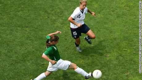 Taylor plays against the USA during an international soccer game in 2006.
