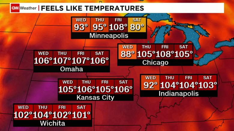 Excessive Heat Watch has been issued as extreme heat and humidity returns
