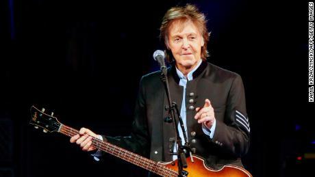 Sir Paul McCartney performs in concert.