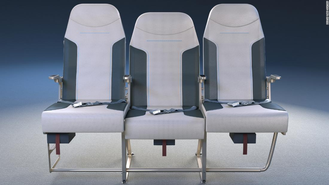 Middle seats on airplanes: New design could make them less