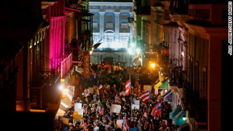 On the ground as Puerto Rico's political protests erupt