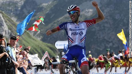 Thibaut Pinot won the 14th stage of the Tour de France Saturday.
