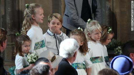 Prince George was a page boy at the wedding of Princess Eugenie to Jack Brooksbank at St George's Chapel in Windsor Castle in October 2018.