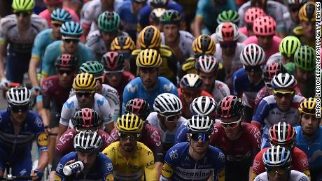 Racers in action in Sunday's 15th stage of the Tour de France.