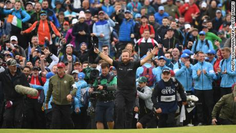 Shane Lowry was roared on by raucous home support at Royal Portrush.