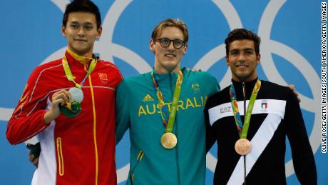"""Le nageur chinois Sun Yang rivalise avec Mack Horton: """"Vous devez respecter la Chine"""""""