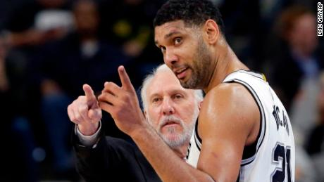 Spurs legend Tim Duncan joins Gregg Popovich's staff