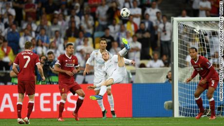 Gareth Bale came off the bench against Liverpool to score the winning goal in the 2018 Champions League final.