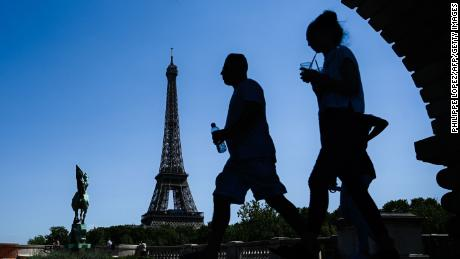 Temperatures of 42 C are expected in Paris on Thursday.