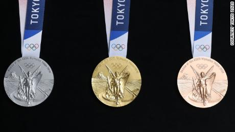 Tokyo 2020 unveils Olympic medals made from old electronics