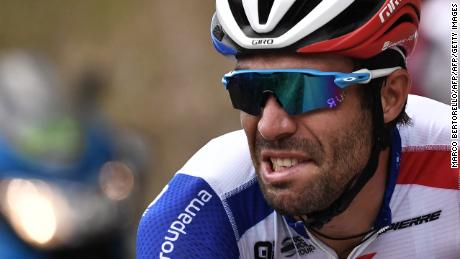 France's Thibaut Pinot was in fifth place before the start of Friday's stage.
