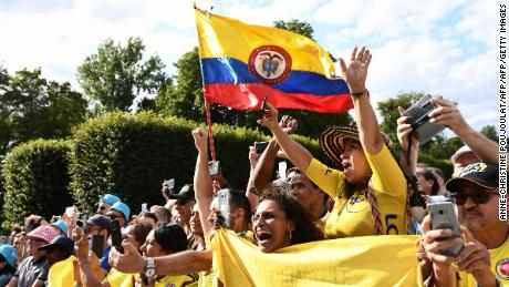 Colombian fans came to cheer on their hero Egan Bernal for the 21st and final stage of the Tour de France.