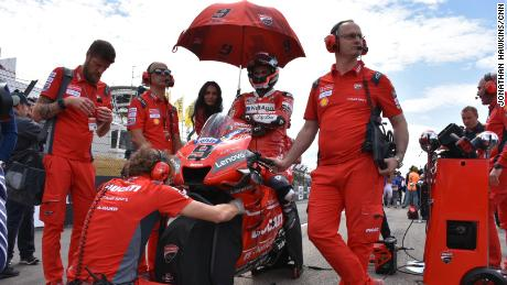 Danilo Petrucci on the grid prior to the Italian GP.