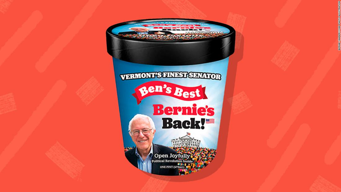 Ben & Jerry's founders create new ice cream flavor in honor of Bernie Sanders - CNNPolitics