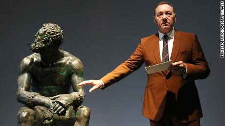 Kevin Spacey Has 'Bizarre' Appearance in Museum