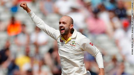 Nathan Lyon of Australia claimed six wickets in England's second innings.