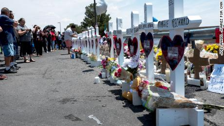 Zanis brought wooden crosses to the Walmart in El Paso, Texas, where dozens of people were killed in August.