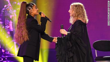 Ariana Grande makes surprise appearance at Barbra Streisand's Chicago concert