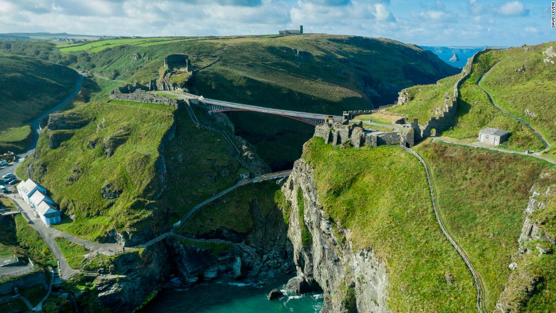 A Cornish castle has recreated the legendary crossing of King Arthur's father