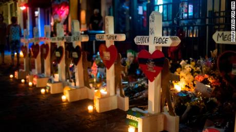 Zanis drove from El Paso to Dayton, Ohio, and set up memorials there.