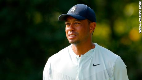 Woods during the first round of The Northern Trust.
