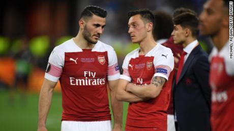 Sead Kolasinac and Mesut Ozil helped Arsenal reach last season's Europa League final.
