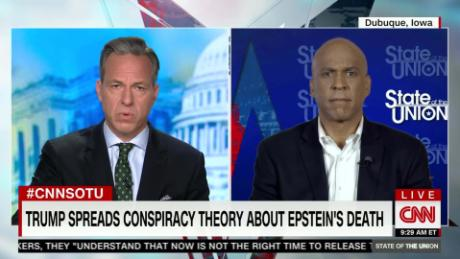 Booker: Trump spreading conspiracies is 'dangerous'
