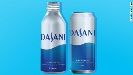 Dasani's new aluminum packages.