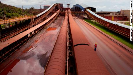 A major iron ore mine in northern Brazil.