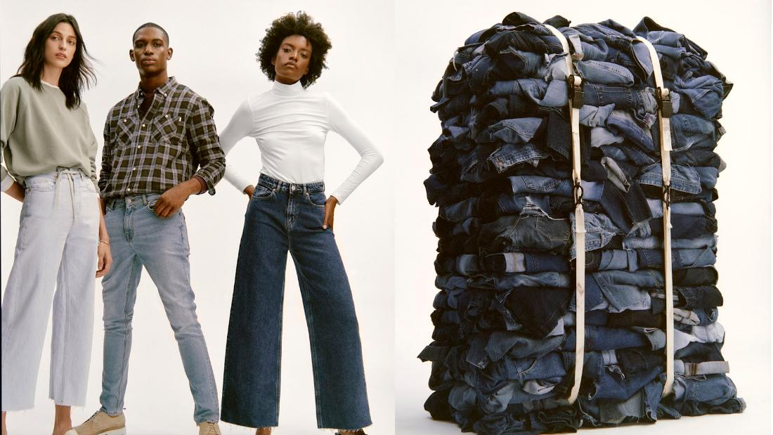 This new denim line is taking sustainable fashion to new heights by giving your old jeans a second life
