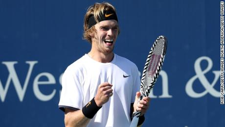 Andrey Rublev was visibly emotional after the biggest win of his career.