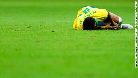 Neymar's career has been punctuated by a series of foot injuries.