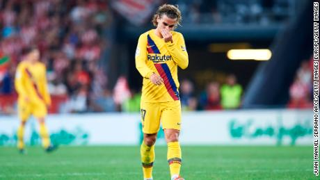 Antoine Griezmann joined Barca from Atletico Madrid in July.