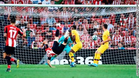 Aduriz struck late to secure Bilbao's win.