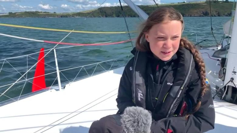 Greta Thunberg lands in USA for climate meet