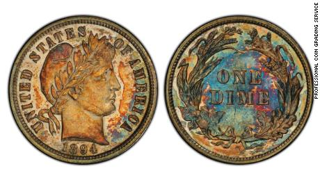 A 125-year-old dime just sold for $1.32 million