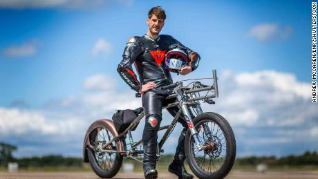 Neil Campbell and his custom-made bike.