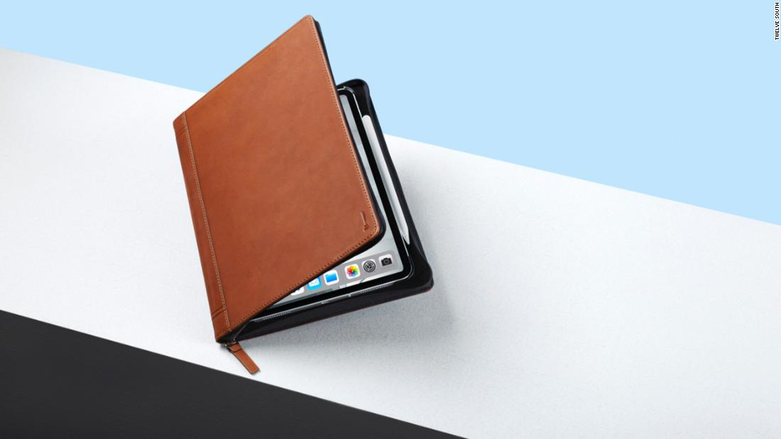 This handsome case for the iPad Pro gives you storage and the ability prop it up