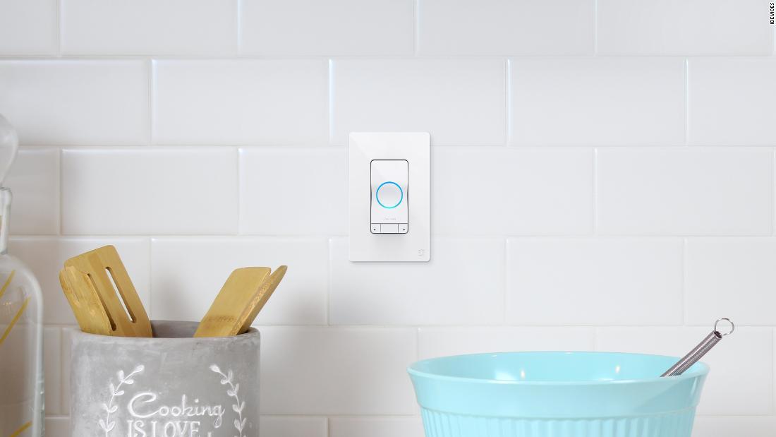 This light switch features an Alexa smart speaker