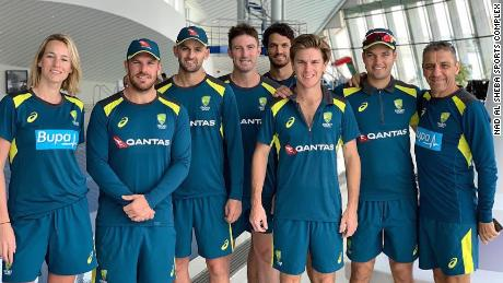 The Australian cricket team at the NAS Sports Complex in Dubai ahead of this year's World Cup