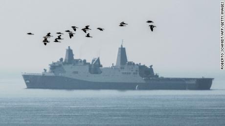 US Navy ship passes through Strait