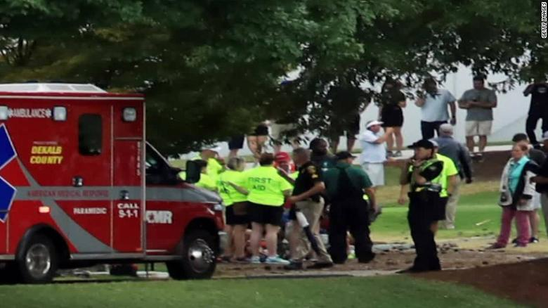 Irishman hospitalised following lightening strike at USA golf tournament