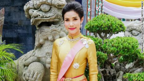 This undated handout from Thailand's Royal Office received on August 26, 2019 shows royal noble consort  Sineenat Wongvajirapakdi.