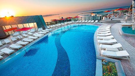 Fairmont Baku, Flame Towers, Baku, Azerbaijan. Five-star hotel