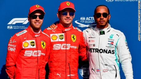 Charles Leclerc, Sebastian Vettel and Lewis Hamilton completed the top three in qualifying at Spa.