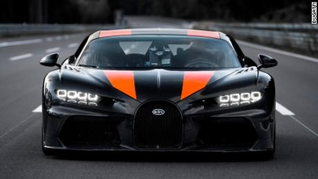 A Bugatti went 305 miles per hour. That's a record