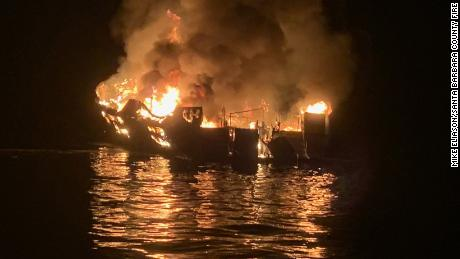 Eerie mayday call from boat as it was engulfed in flames