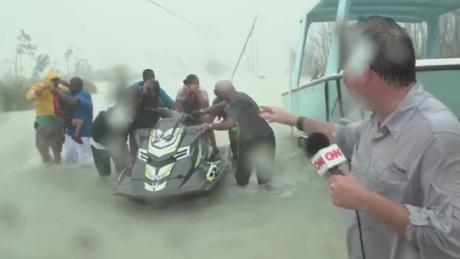 CNN on the scene as victims dragged from knee-high water