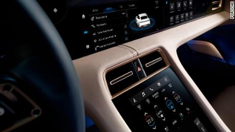 The Porsche Taycan has very few switches and knobs. Instead, most controls are operated through touchscreens.