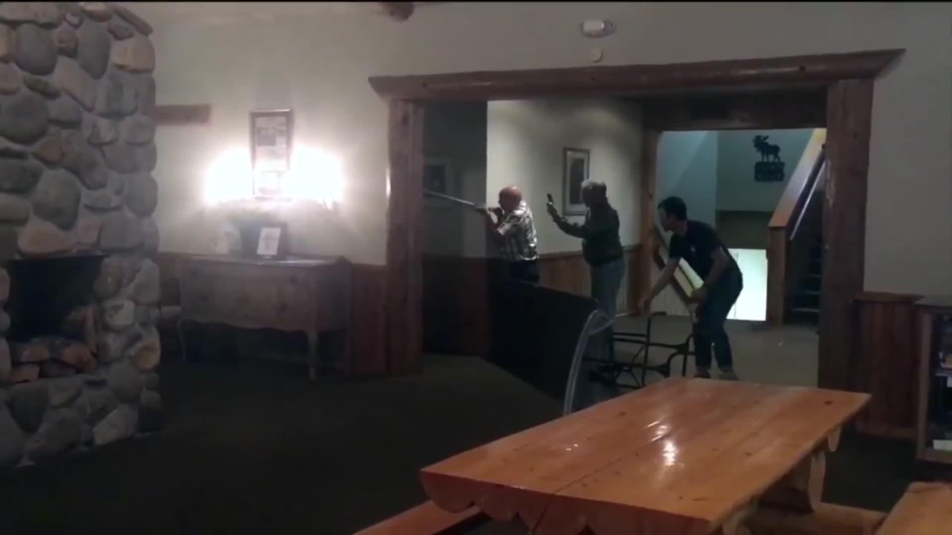 Black bear found resting in Montana lodge washroom | CNN Travel